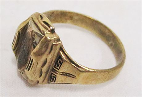 VINTAGE 10K GOLD 1955 CLASS RING