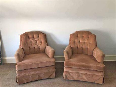 Tufted Pin Cushion Chair
