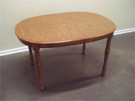 OAK DINETTE TABLE WITH LAMINATE TOP