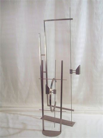 CONTEMPORARY/ABSTRACT METAL ARTISAN SCULPTURAL CANDLE HOLDERS - 2