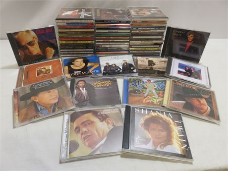 55+ Country Music CD Lot