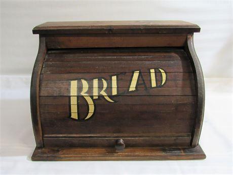 Pine Rolltop Bread Box