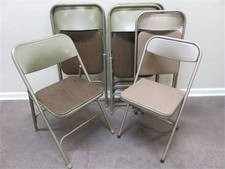 6 SAMSONITE Folding Metal Chairs