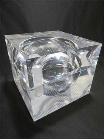 Vintage Mid-Century Alessandro Albrizzi Lucite Ice Bucket