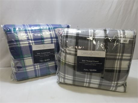 NORTH SHORE LIVING Reversible Down Blankets (QUEEN/FULL)