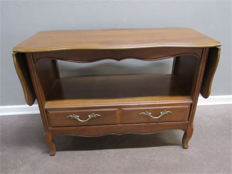 STANLEY FURNITURE DROP-LEAF SERVER/CONSOLE TABLE