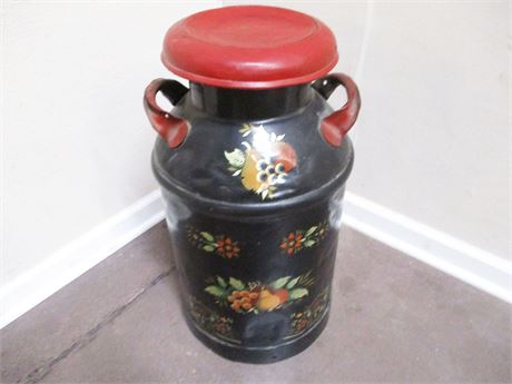 VINTAGE DECORATED MILK CAN