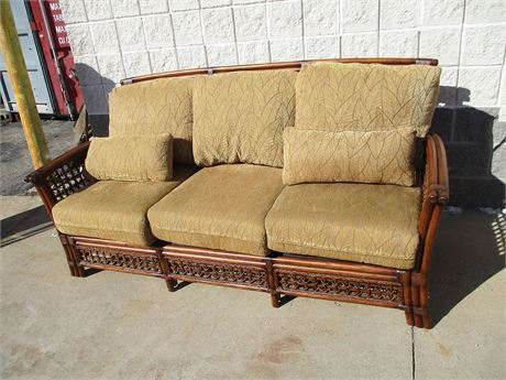 LOVELY RATTAN SOFA BY ACACIA HOME & GARDEN