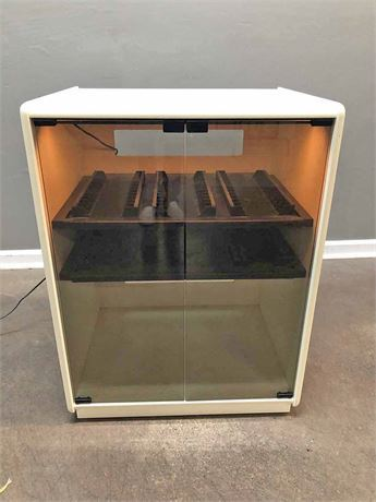 Lighted Media Cabinet