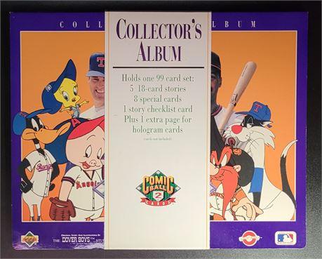 COMIC BALL 2 LOONEY TUNES 99 CARD SET & ALBUM FEATURING NOLAN RYAN