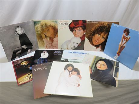 Vintage BARBARA STREISAND Record Album Lot