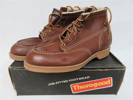 THOROGOOD Men's Leather Work Boots - SIZE 12EEE