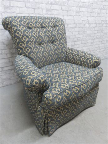 Upholstered Skirted Arm Chair