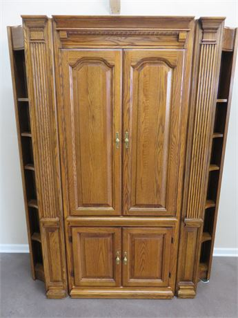 Oak Entertainment Armoire