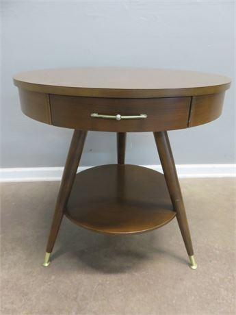 MERSMAN Mid-Century Drum Table