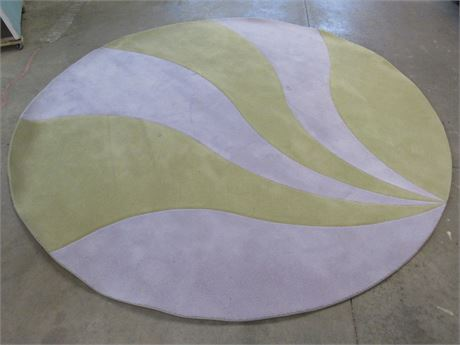 ABSTRACT ROUND AREA RUG