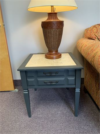 End Table with Ceramic Insert Top