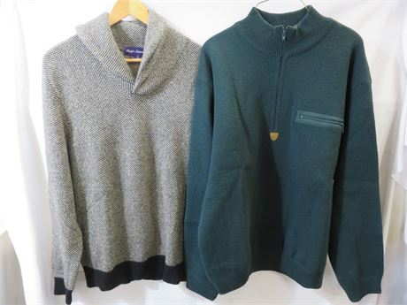 Mens Cashmere & Wool Sweaters - Size L