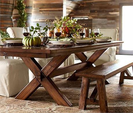 POTTERY BARN Toscana Dining Table Set