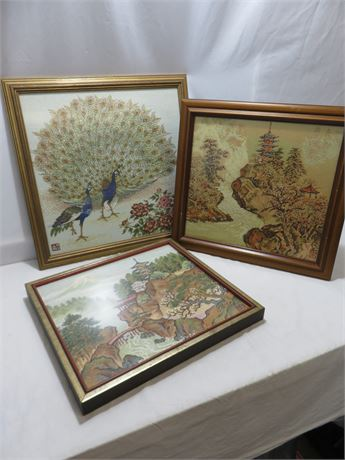 Asian Embroidery Art Prints