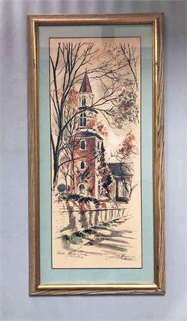 John Haymson Signed Watercolor