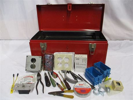 BX-17 CORNWELL MECHANICS' TOOL BOX WITH EXTRAS