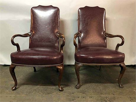 Hancock & Moore Oxblood Boardroom Chairs