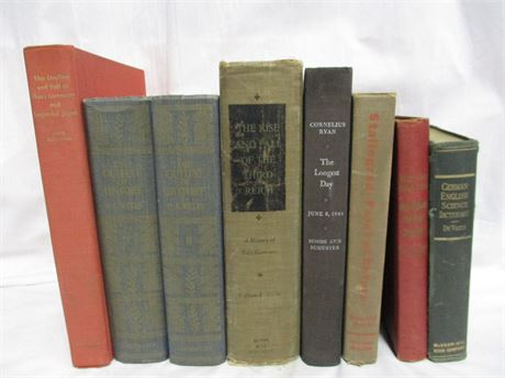 LOT OF VINTAGE BOOKS, INCLUDING WWII BOOKS