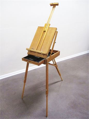 FOLDING FRENCH EASEL AND TRAVEL SKETCHBOX