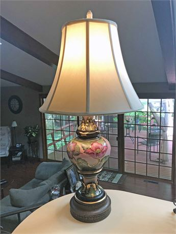 Signed Porcelain Fabian Table Lamp