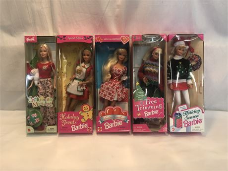 Vintage Holiday Barbie Set.