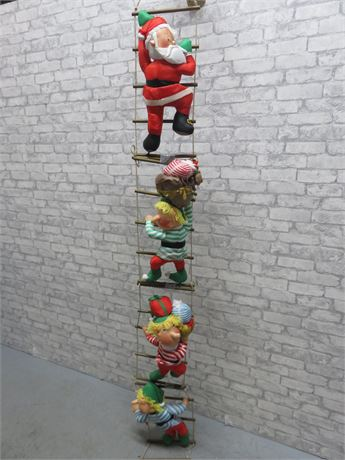 Santa Claus & Elves Rope Ladder Decoration - 10 ft. High