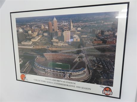 Limited Edition 1999 Cleveland Browns Stadium Commemorative Print