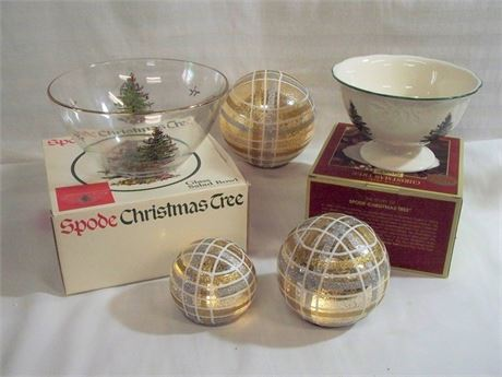 5 PIECE HOLIDAY/CHRISTMAS LOT WITH BOXES