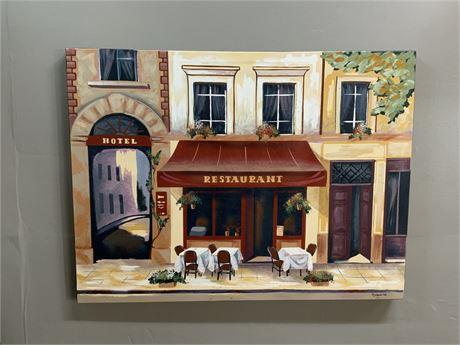 Tuscan Restaurant by Gianna Canvas Print