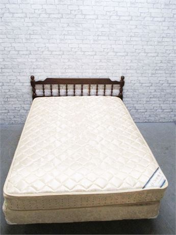 QUEEN BED INCLUDING CHIROPRACTIC MATTRESS