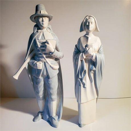 Ceramic Pilgrim Figurines