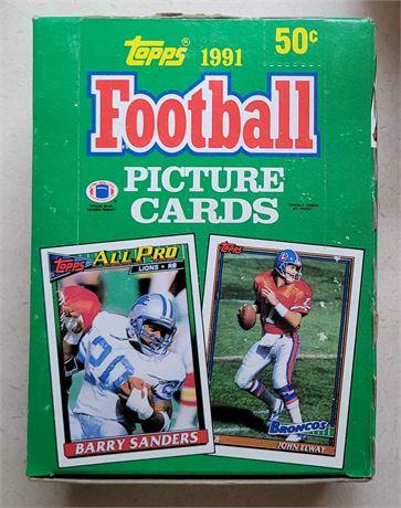 1991 Topps Football Wax Box w/ Factory Sealed Packs