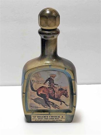 Vintage Jim Beam Frederic Remington Choice Decanter