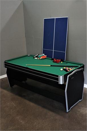 Harvard G05633W 3-in-One Multi-Game Flip Table