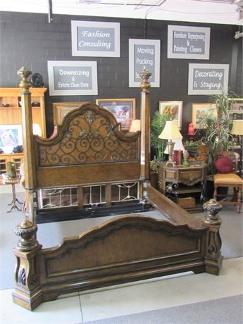 Stunning Huge Marge Carson King Size Bed for the King and Queen of Your Castle