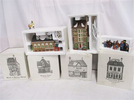 """7-PIECE LOT OF DEPT. 56 FEATURING """"DICKENS' VILLAGE"""""""