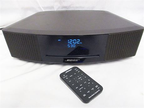 BOSE WAVE MUSIC SYSTEM IV WITH CD PLAYER AND TOUCH CONTROLS AND REMOTE