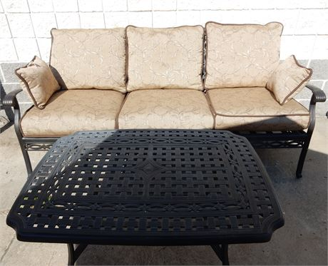 Agio Patio/Sunroom Metal with Black and Gold Accents Set