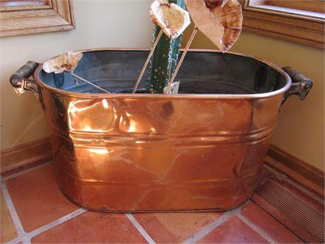 Antique Polished Copper Boiler