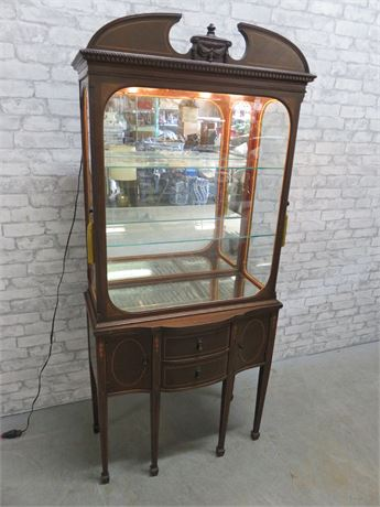 Antique Hepplewhite Curio Cabinet