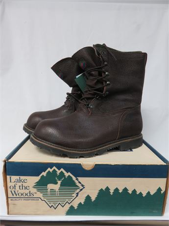 LAKE OF THE WOODS Men's Insulated Leather PAC Boots - SIZE 14 M/W