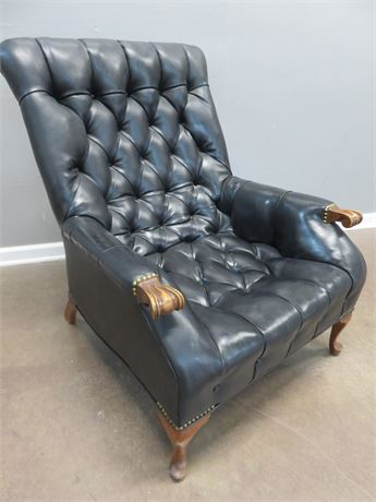 Tufted Leather Arm Chair
