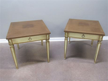 2 Vintage Matching Mid Century End Tables