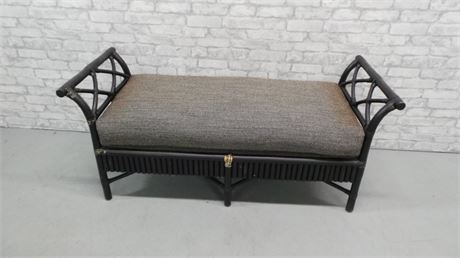 Black Bamboo Bench